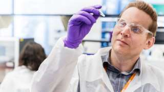 Scientist at GSK vaccine centre Rockville, Maryland