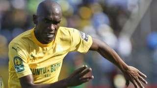 Anele Ngcongca in action for Mamelodi Sundowns