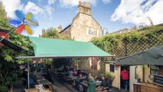 Image of the beer garden at The Bell Inn in Bath
