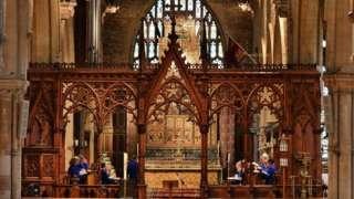 Inside St Wulfram's