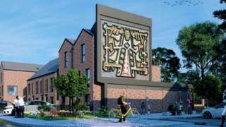 Designs for housing featuring Tree of Knowledge mural