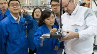 Inside the VW plant in Urumqi