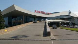 Almaty Airport forecourt, Kazakhstan