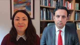 Monica Lennon and Anas Sarwar both hope to be the new leader of Scottish Labour