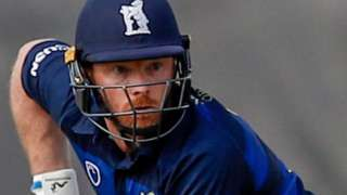 Warwickshire batsman Ian Bell plays a shot