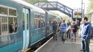 ramblers at Craven Arms station
