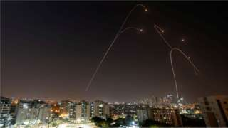 Iron Dome anti-missile system fires interception missiles as rockets are launched from Gaza towards Israel, as seen from the city of Ashkelon, Israel, 13 November, 2019.