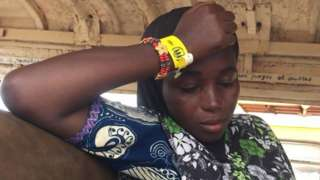one of di refugees wey Cameroon send back home