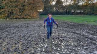A waterlogged route in Stamford, Lincs