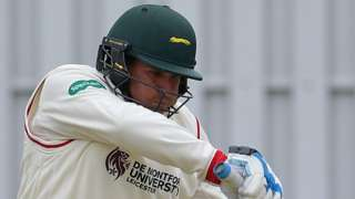 Mark Cosgrove plays a shot for Leicestershire