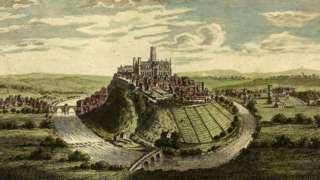1859 depiction of Durham Cathedral