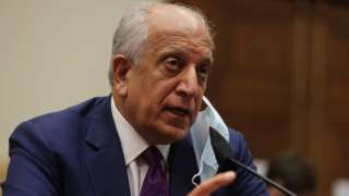 Zalmay Khalilzad testifies during a hearing before the House Committee on Foreign Affairs on May 18, 2021
