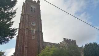 Picture of the bell tower and clock at Kenton