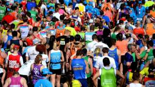 Runners in the Great North Run