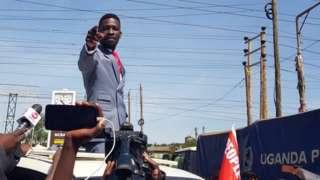 Ugandan opposition figure Robert Kyagulanyi, popularly known as Bobi Wine