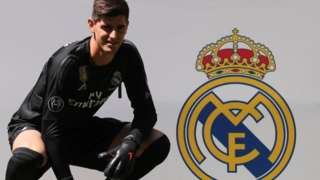 Thibaut Courtois is unveiled as a Real Madrid player