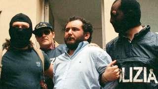 Arrest of mafioso Giovanni Brusca in Palermo, 21 May 96