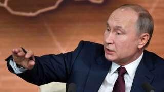 Russia's President Vladimir Putin, 19 Dec 19