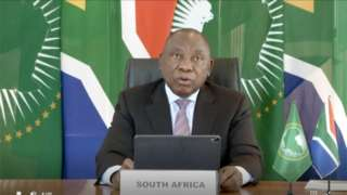 La réunion a été convoquée par le président de l'UA en exercice, le président Sud-africain, Cyril Ramaphosa