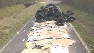 Fly-tipping in Capel St Mary