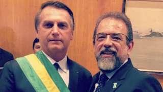 Presidente da Taurus, Salesio Nuhs, esteve como convidado na posse do presidente Jair Bolsonaro