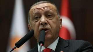 Recep Tayyip Erdogan addresses parliament, 7 July 2018