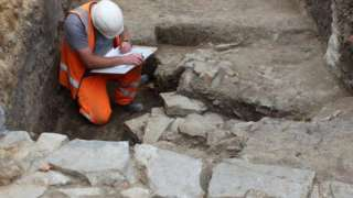 Man working on site at the Whitefriars