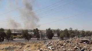 عکس آرشیوی از حملات دو سال پیش سپاه پاسداران به مواضع حزب دموکرات کردستان در خاک عراق
