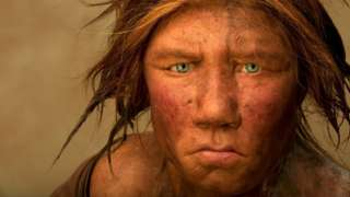 The Neanderthal woman was re-created and built by Dutch artists Andrie and Alfons Kennis