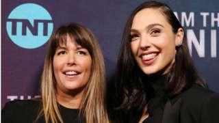 Wonder Woman director Patty Jenkins (left) with actress Gal Gadot.