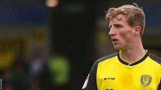 Jamie Allen in action for Burton Albion