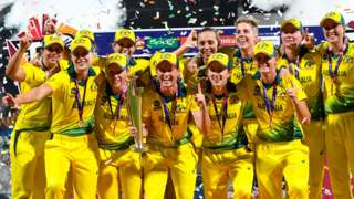 Australia celebrate with the trophy