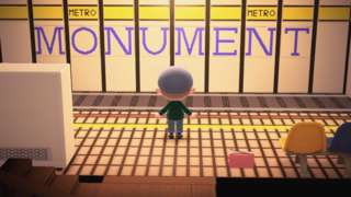 Monument metro station in Animal Crossing