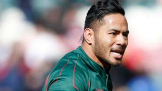 Manu Tuilagi went off injured 12 minutes into Sunday's home win over Wasps