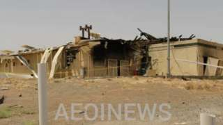 Photograph, posted by Atomic Energy Organization Of Iran, purportedly showing damaged building at Natanz uranium enrichment facility (2 July 2020)