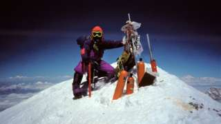 Caradog Jones at the summit of Mount Everest