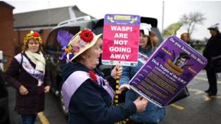 Supporters of Waspi in Derbyshire