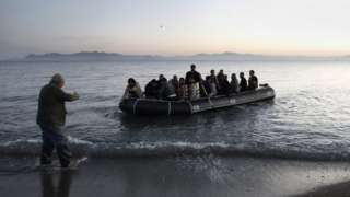 Migrants arriving in Greece (file picture)