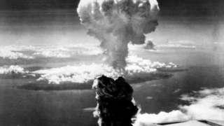 1945年8月9日,日本长崎原爆后上空出现的(Credit: PA)
