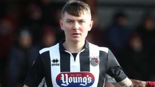 James Tilley in action for Grimsby Town