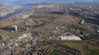 Aerial shot of the site