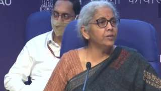 FM Nirmala Sitharaman after launching National Monetisation Pipeline in Delhi