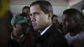 Juan Guaidó, no último domingo na Venezuela