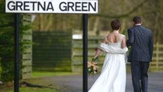 Gretna wedding