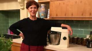 Rebecca Stott with her mother's mixer