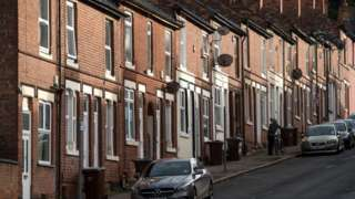 Nottingham street in deprived area