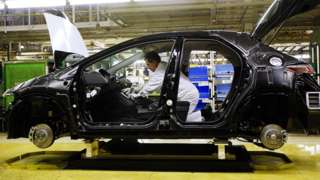 File photo of a Honda Civic on the production line at the Honda plant in Swindon