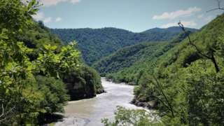 Долина реки Риони, где должна появиться Намахвани ГЭС