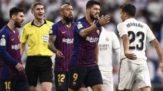 Barcelona-Real Madrid maçından bir kare