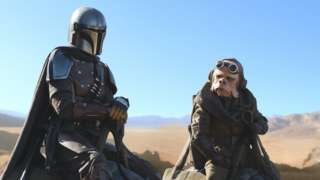 Pedro Pascal is the Mandalorian, in the Disney series